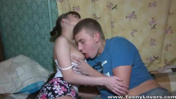 Short skirt teen is so sexy he has to fuck her
