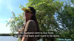 PublicAgent Anissa Kate is a Hefty Jugged Cheating House-wife Penetrated in Tent
