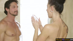 Huge juggs masseuse banged by her client