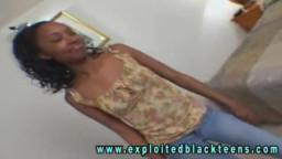 Skinny ebony teen is getting your hands on down and beginning to deep-throat a schlong
