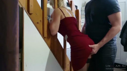 Step-mom stuck pressure fucked, get butt sex and cum shots in mouth by step-son