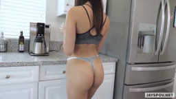 JAY'S POV - Tiny Latin Teen Sister Gets Creampied By Her Stepbrother