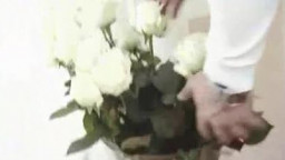 Flowers for the Blond teen