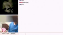 Omegle- super hot 18 yrs ancient teen command her titties + gift orbs