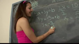 spectacular brunette gives up her arse to pass lesson