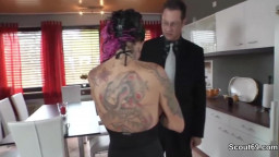 German large breasts Pornstar Kitty Core pummels with cougar guys