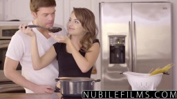 Romantic sex for Kimmy Granger ends with jizz facial