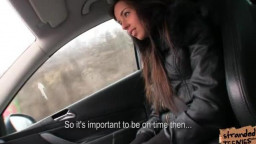 handsome teen Gina Devine gets her labia pumelled tough in the car
