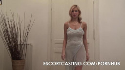Blonde Big Breasted Escort With Natural D Cups Fucks Client In POV
