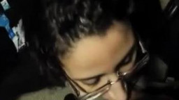 Hot Nerd Arabic Chick In Glasses Gives Awesome Blowjob