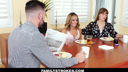 FamilyStrokes - Beautiful Teen Flashes Snatch For Unusual Uncle