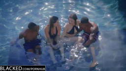 BLACKED First Actual Multiracial 4some For Leah Gotti And Lana Rhodes