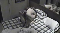 Security camera view of cheating wife sex