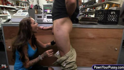 Big tits babe pounded by nasty pawn guy