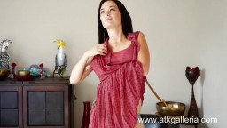 Pale dark haired Mandy fucks her tight pussy with a toy