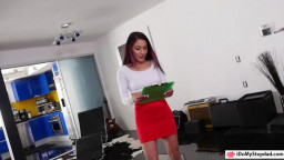 Petite teen Liv Revamped banged by daddy