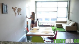 Enticing Blond Got Laid And Dommed By Roommate