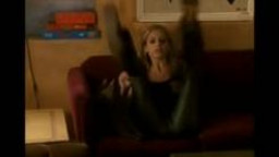 Sarah Michelle Gellar - Cameltoe in Leather Gags on \'Buffy\'