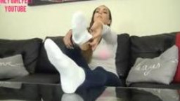 Only Sweetheart Toes - Sasha Foxx Perfect Colossal toes feet whit socks