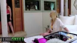 BadMILFS - Huge Boobed Milf Has A Threesome With Stepson And Ginger Teen