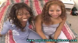 2 fascinating 18 19 Teens are providing an awesome double rough blowjob