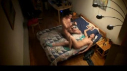 Video of a teen couple fucking in bed