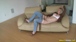 Horny huge titted Russian will get got fucked in clothing