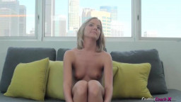 Sensual audition blond posing nude in exactly the flick by Audition Sofa X