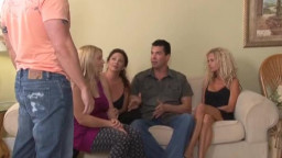 chick with huge natural titties giving head with friends' preserve
