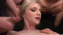 Astonishing blond is getting your hands on orgasm in mouth in exactly the flick by Czech Gang Bang