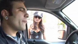 Policewoman gets fucked in the donk, by two!