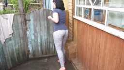 pissing standing on precisely the street. colossal flow and farting;)