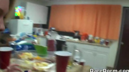 Sex on camera after party in a dorm