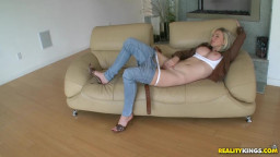 lovely huge-boobed  Russian gets penetrated in clothes