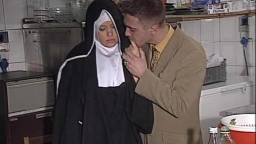 quiet European Nun gets her bootie fucked right and hard