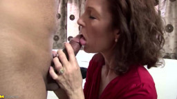 Genuine mature mom fastened by young not her son