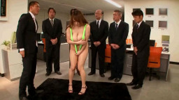 busty chinese wearing itsy knickers  at the office
