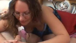 fledgling  girlfriend gives oral pleasure with facial cum shot
