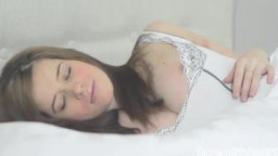 naked and jacking in Bed! from PregnantVickycom. #01